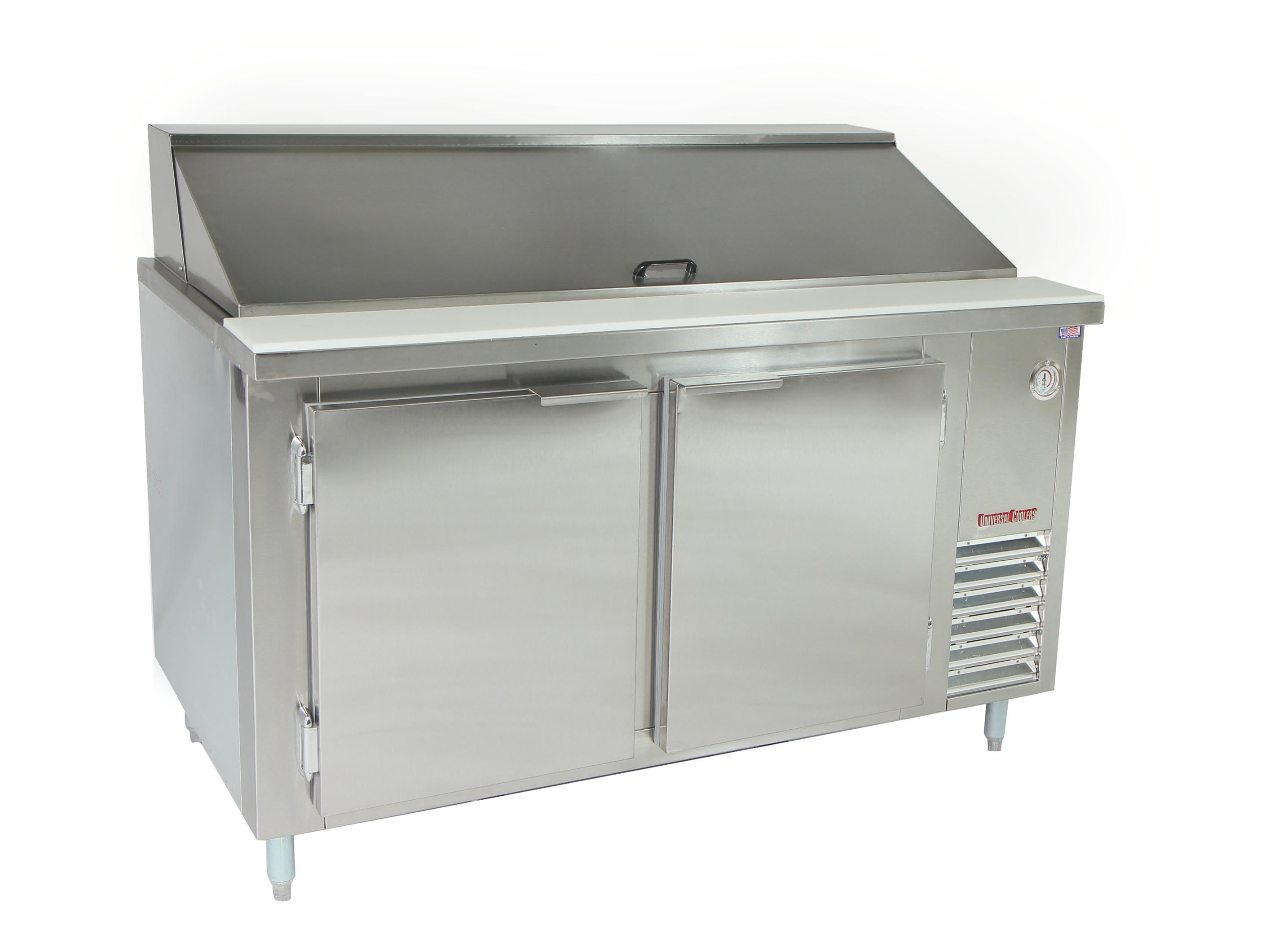 Universal Coolers Sandwich Prep TablesBain Marie - Cold sandwich prep table