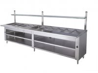 display hot food steam table